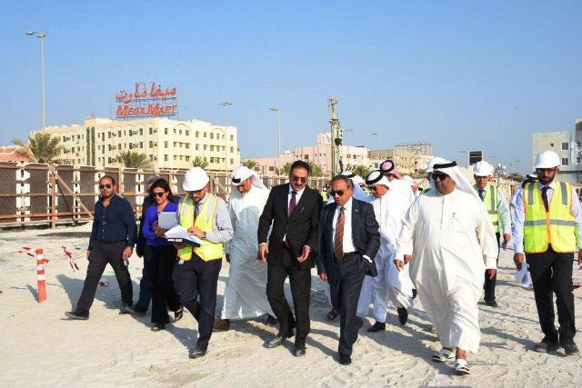 MINISTER OF WORKS VISIT SA'ADA WATER FRONT PROJECT