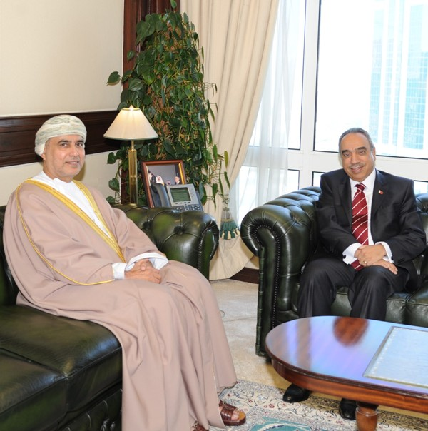 KHALAF AND OMANI AMBASSADOR DISCUS ACTIVATION MEMORANDUM OF UNDERSTANDING IN AGRICULTURE AND FISHERIES