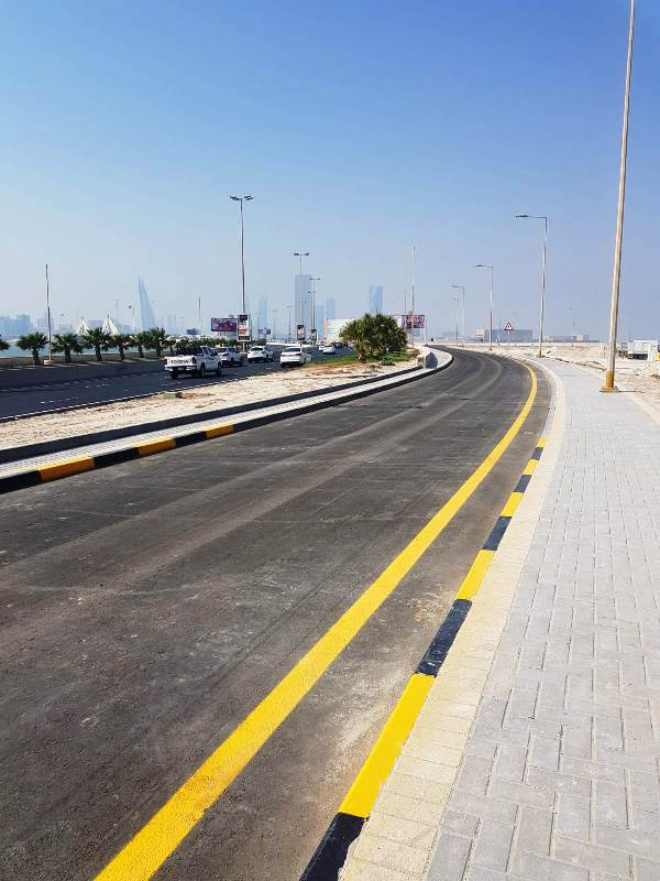 EXIT FROM SHAIKH ISA CAUSEWAY TO BUSAITEEN COMPLETED