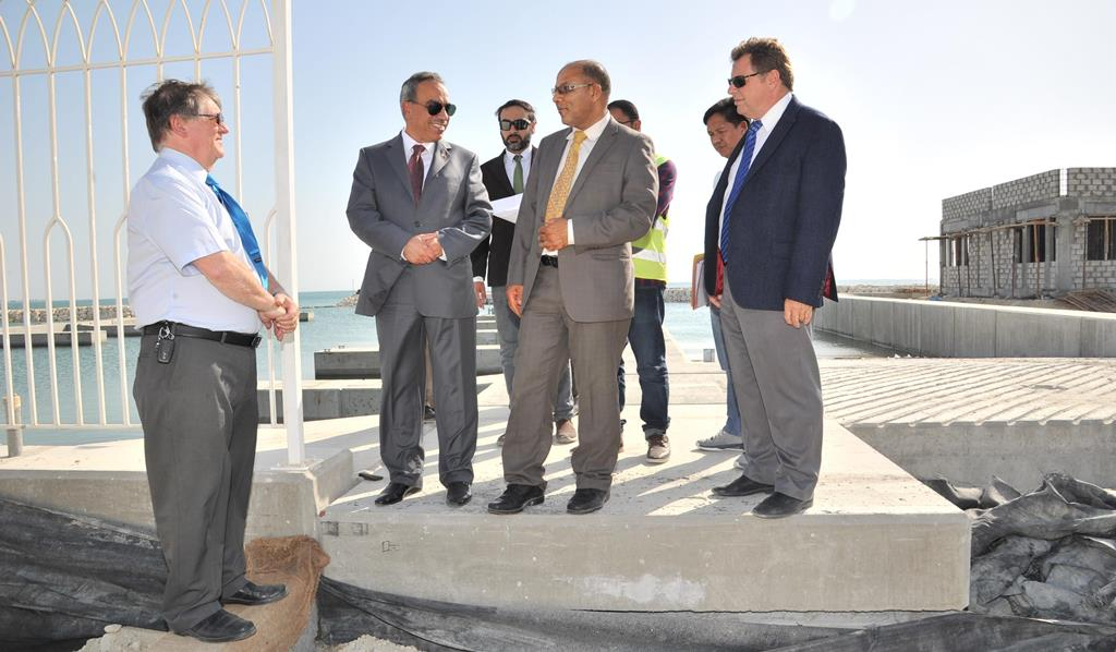 KHALAF INSPECTS WORK ON ZALLAQ HARBOUR